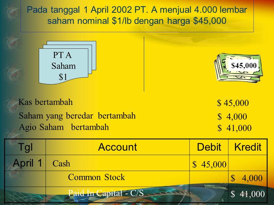 Pada tanggal 1 April 2002 PT.