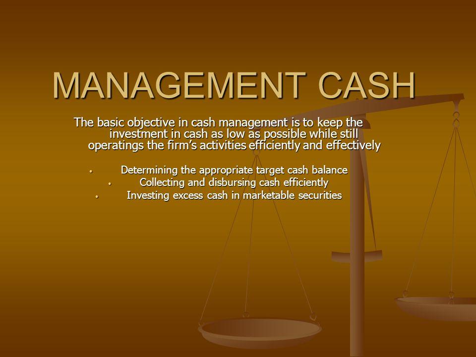 REASONS FOR HOLDING CASH 1.Transactions motive 2.