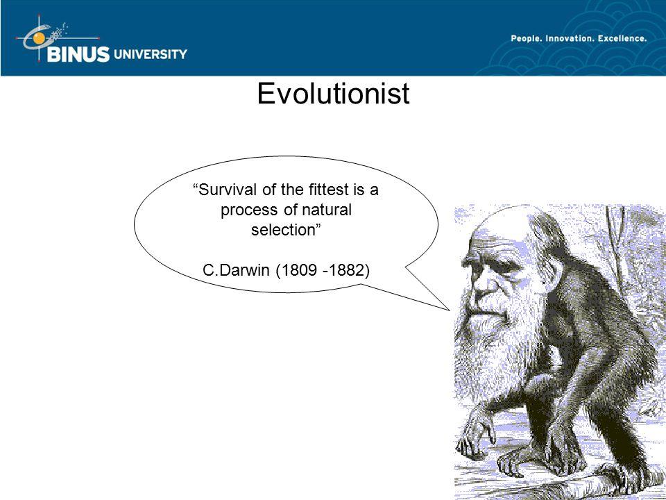 Darwin's Theory of Evolution -Variation -Transmission (heredity, sexual reproduction) -Natural selection Contoh: Lemmings dan jurang http://en.wikipedia.org/wiki/Lemming
