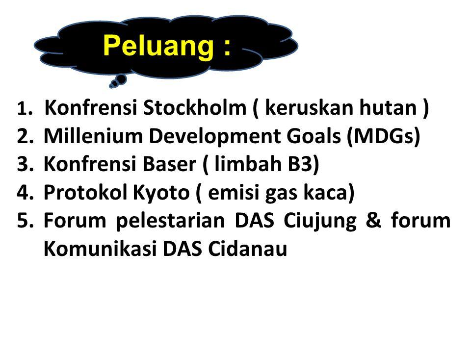 6.Berkembangnya Lembaga Swadaya Masyarakat peduli Lingkungan 7.
