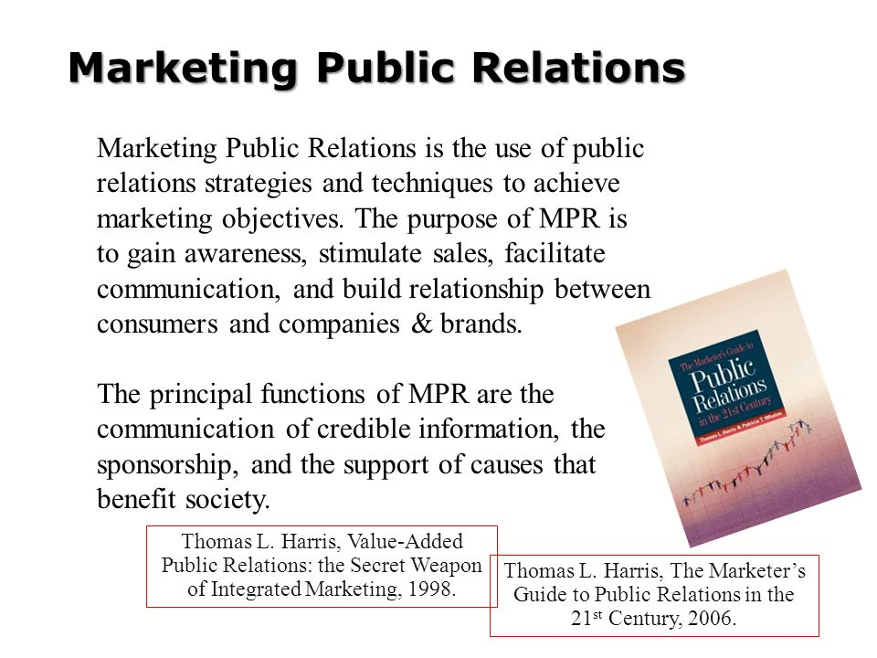 Marketing Public Relations Thomas L.