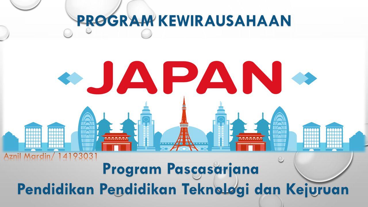 PROGRAM KEWIRAUSAHAAN Program Pascasarjana Pendidikan Pendidikan Teknologi dan Kejuruan Pendidikan Pendidikan Teknologi dan Kejuruan