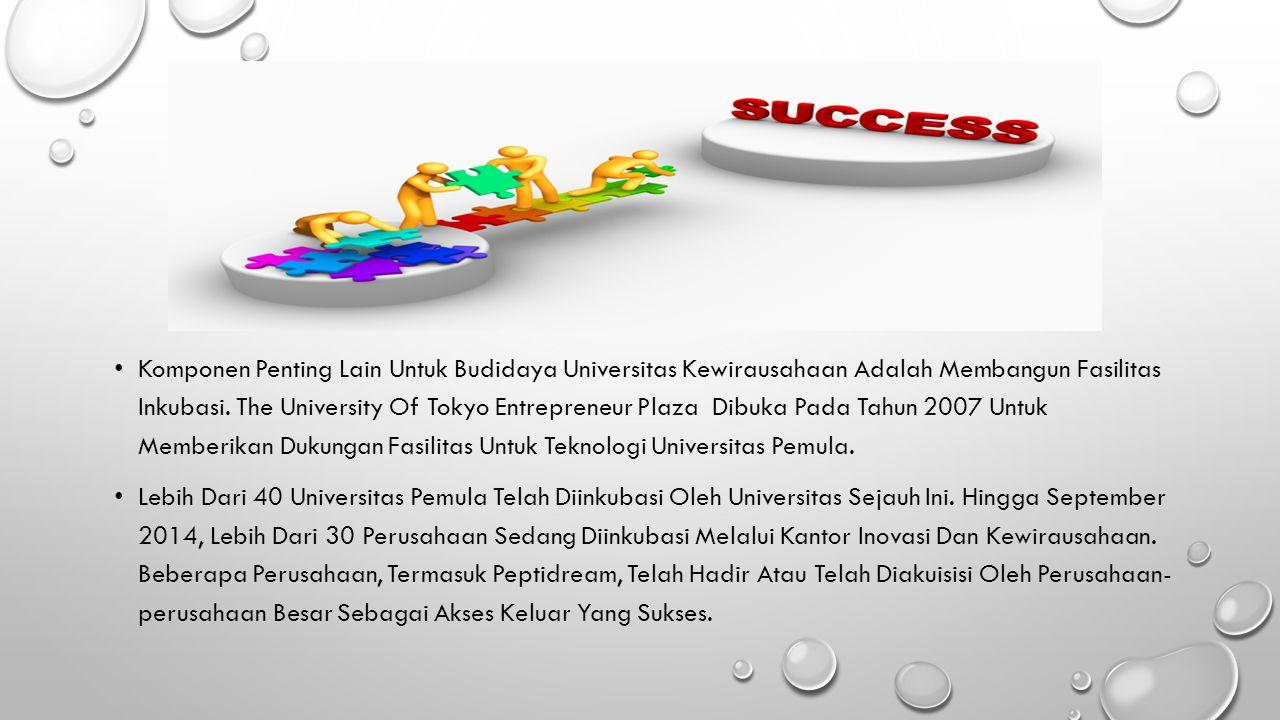 Komponen Penting Lain Untuk Budidaya Universitas Kewirausahaan Adalah Membangun Fasilitas Inkubasi.