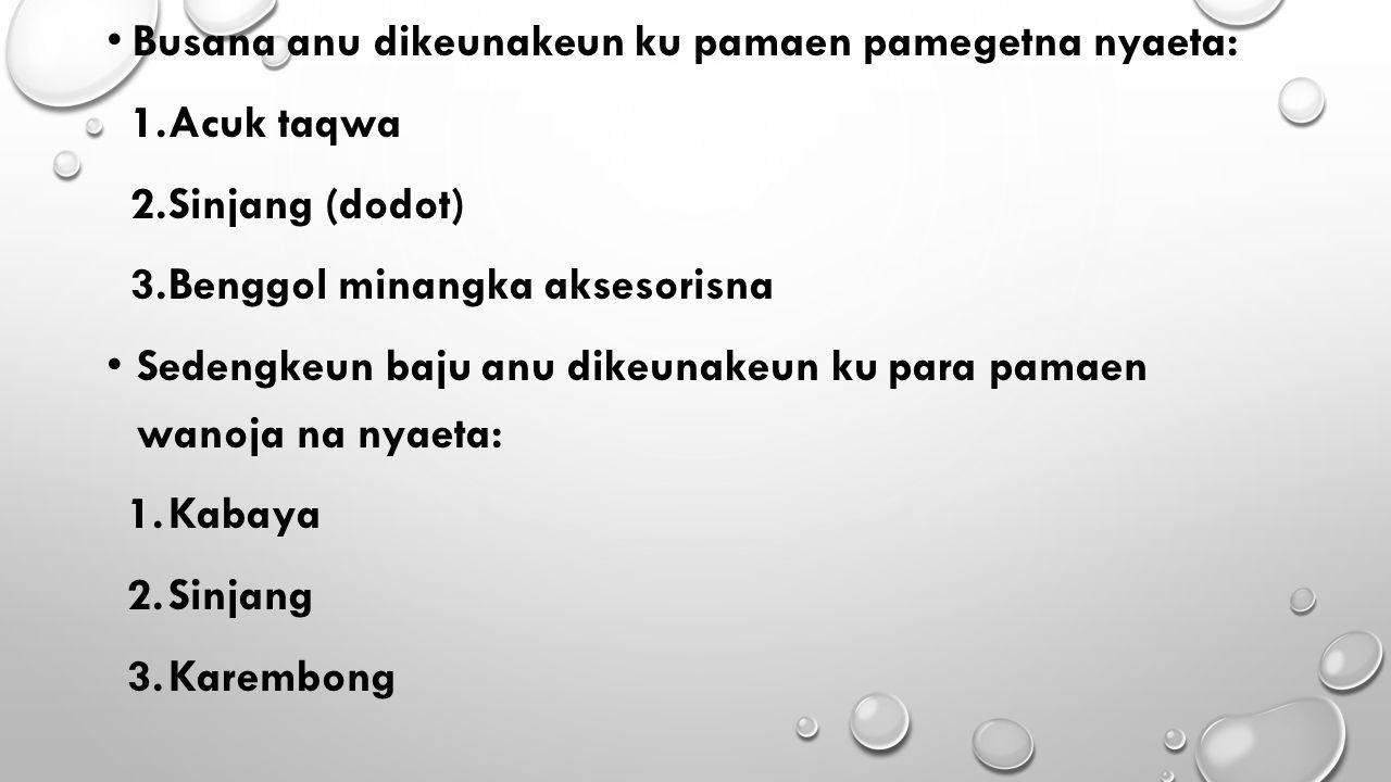 PARABOT MUSIK TEMBANG CIANJURAN Parabot musik anu dipake dina tembang cianjuran nyaeta: 1.Kacapi 2.Suling 3.Rebab
