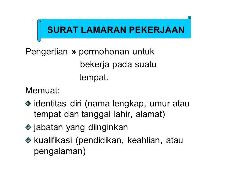 Contoh: Hal: Lamaran Bogor,1 Maret 2006 Yth.