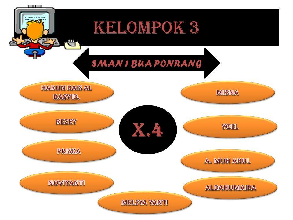 KELOMPOK 3 X.4 SMAN 1 BUA PONRANG