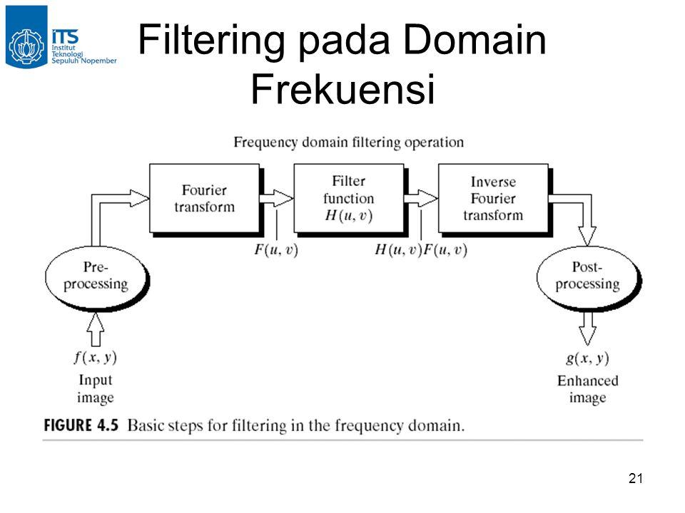 21 Filtering pada Domain Frekuensi