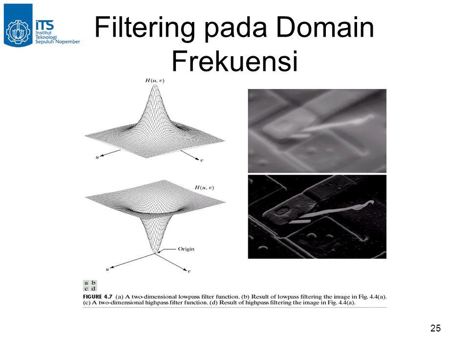 25 Filtering pada Domain Frekuensi