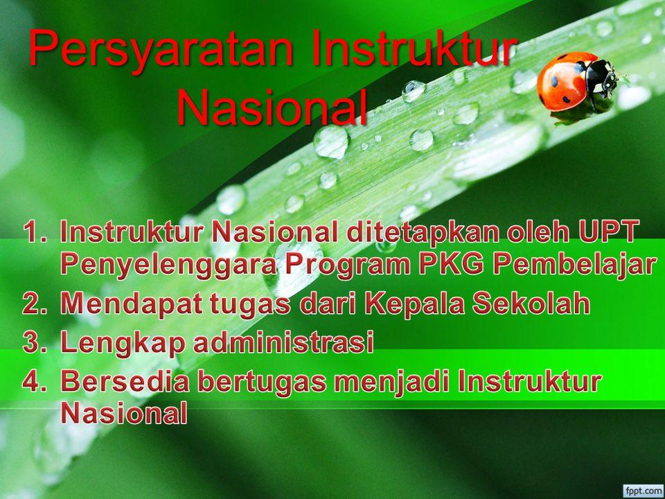 Kriteria Instruktur Nasional