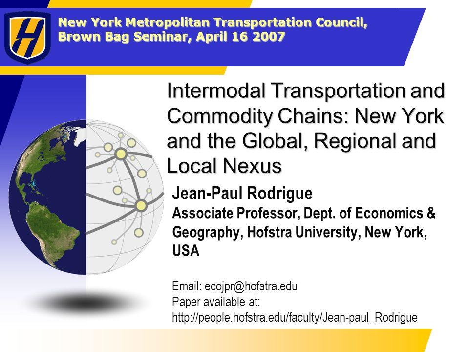 Translisft crane, NS Rutherford yard, PA The Regional Nexus: Freight Distribution, Gateways and Corridors Intermodalism and Transmodalism Corridors 