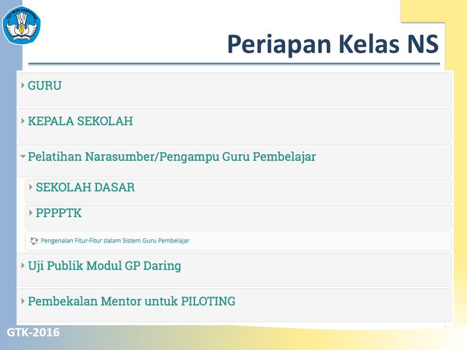 GTK-2016 Periapan Kelas NS