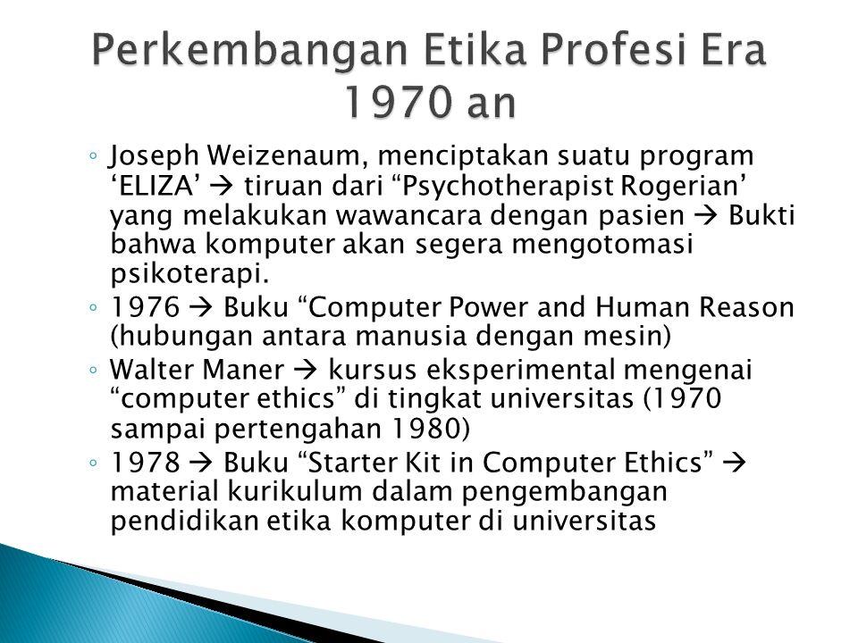  Pembahasan computer-enabled crime atau kejahatan komputer, masalah yang disebabkan kegagalan sistem komputer, invasi keleluasaan pribadi melalui database komputer dan perkara pengadilan mengenai kepemilikan perangkat lunak.