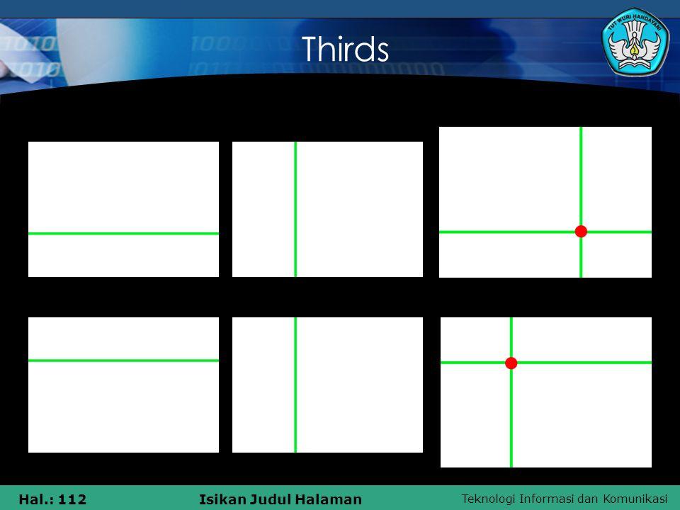 Teknologi Informasi dan Komunikasi Hal.: 112Isikan Judul Halaman 1 Thirds 23