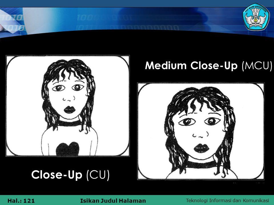 Teknologi Informasi dan Komunikasi Hal.: 121Isikan Judul Halaman Medium Close-Up (MCU) Close-Up (CU)