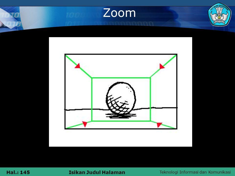 Teknologi Informasi dan Komunikasi Hal.: 145Isikan Judul Halaman Zoom