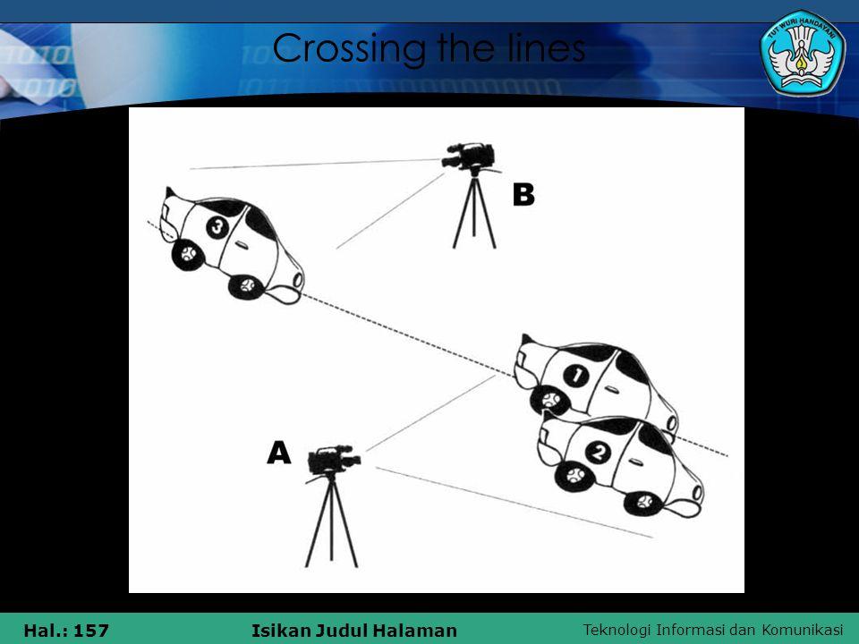 Teknologi Informasi dan Komunikasi Hal.: 157Isikan Judul Halaman Crossing the lines
