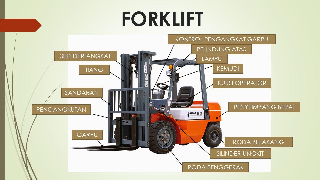 Tips keselamatan forklift Tidak boleh ada Penumpang di saat Forklift membawa barang ataupun kosong.