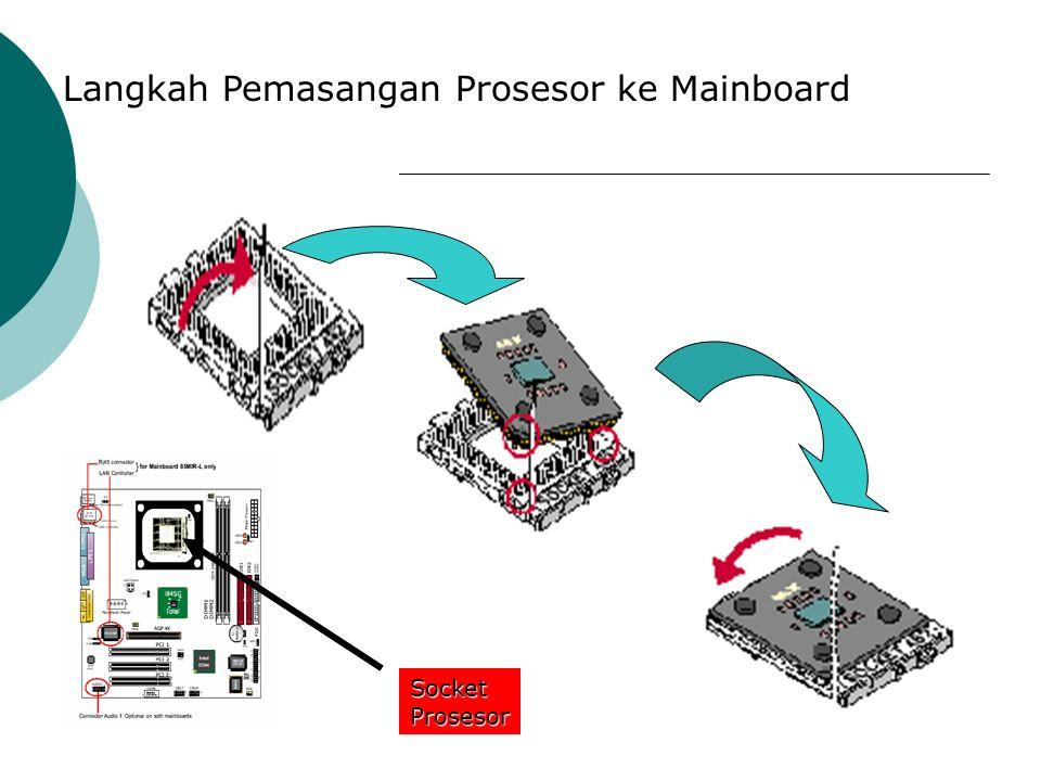 B. Menginstall Processor : 1.Lokasikan soket Zif dan buka dengan menarik tangkai soket keatas 2.