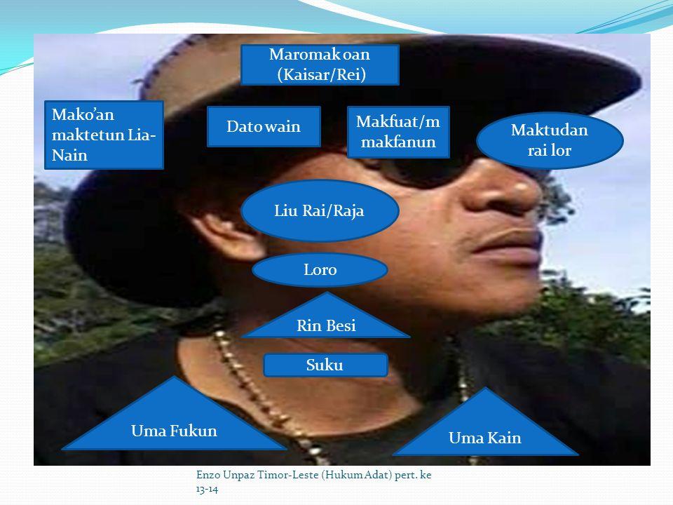 Struktur Modern Enzo Unpaz Timor-Leste (Hukum Adat) pert.