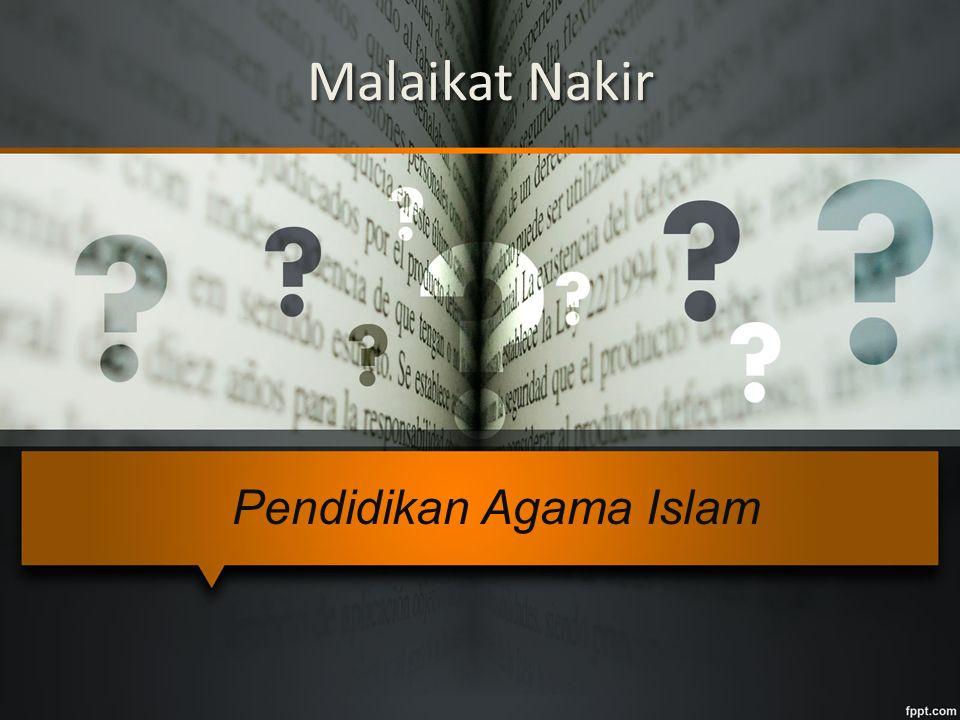 Malaikat Nakir Pendidikan Agama Islam