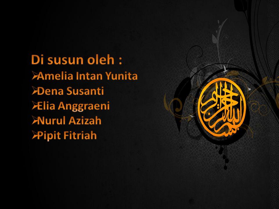 Kesimpulan Ajaran islam mengenal istilah rukun iman.