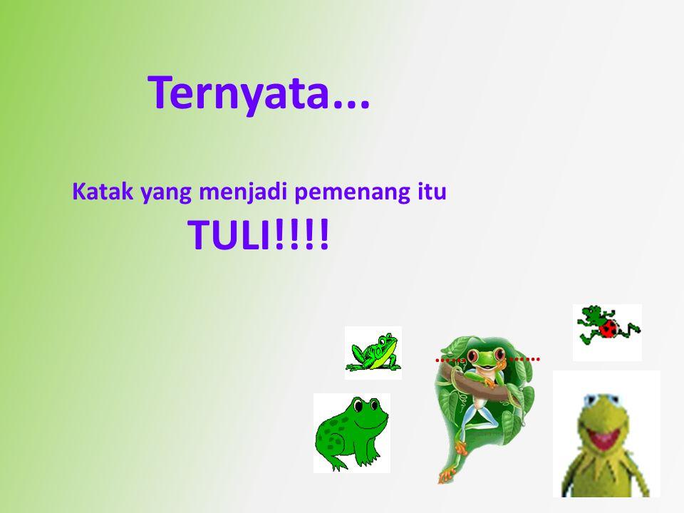 Seekor peserta bertanya bagaimana cara katak yang berhasil itu mempunyai kekuatan untuk mencapai tujuan.