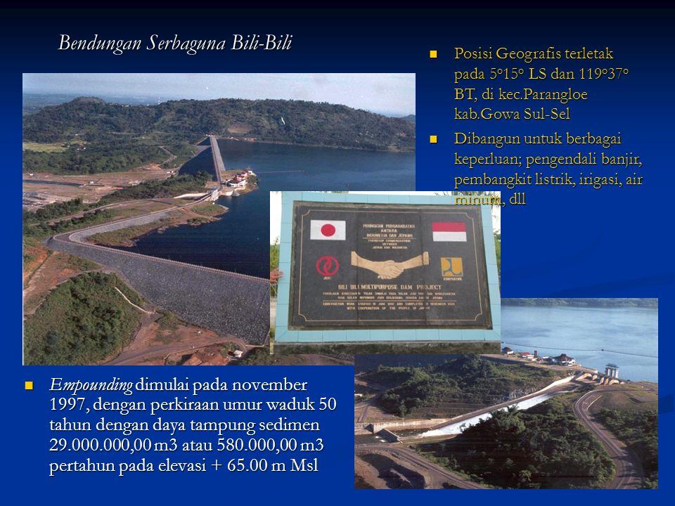 Situasi Mendesak Pengontrolan Sedimen Dari Bawakaraeng (Bawakaraeng Urgent Sediment Control Situation) Pada tanggal 26 Maret 2004 Gunung Sorongan yang berada pada dinding Kaldera Bawakaraeng longsor (El.
