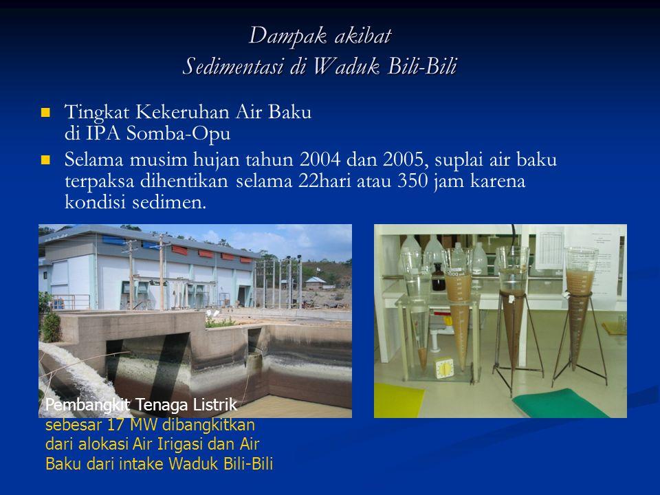 Instalasi Penjernihan Air (Water Treatment Plant/WTP) IPA V Somba Opu Instalasi dibangun pada tahun 2000, dengan sumber air baku bendungan Bili-bili, dengan jarak intake ke pengolahan 18 km, dengan saluran bawah tanah berdiameter 1650 mm sepanjang 6 km dan diameter 1500 mm sepanjang 11,3 km dengan debit 1100 liter perdetik.