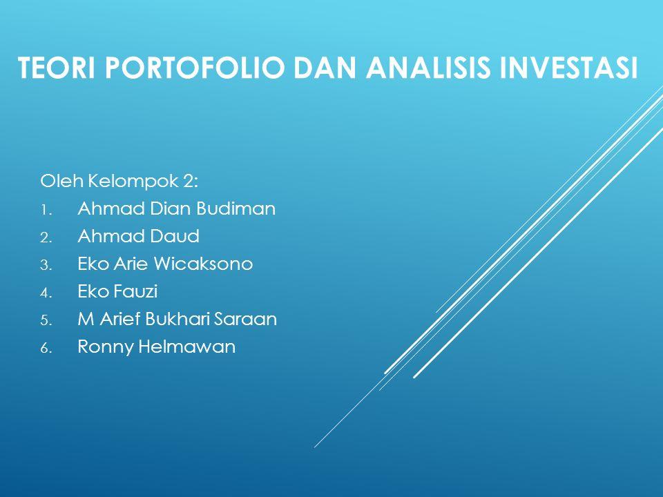 MENENTUKAN ATTAINABLE SET DAN EFFICIENT SET Investor dapat memilih kombinasi dari aktiva-aktiva untuk membentuk portofolionya.