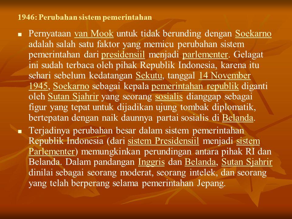 Indonesia mengadopsi undang-undang baru yang terdiri dari sistem parlemen di mana dewan eksekutifnya dipilih oleh dan bertanggung jawab kepada parlemen atau MPR.