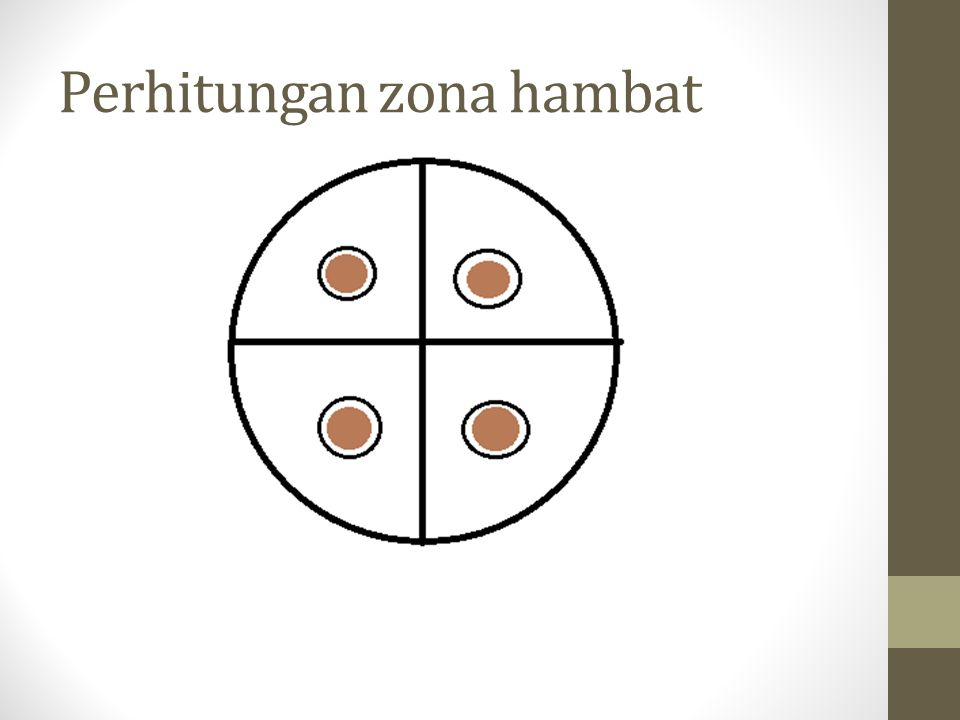 Perhitungan zona hambat