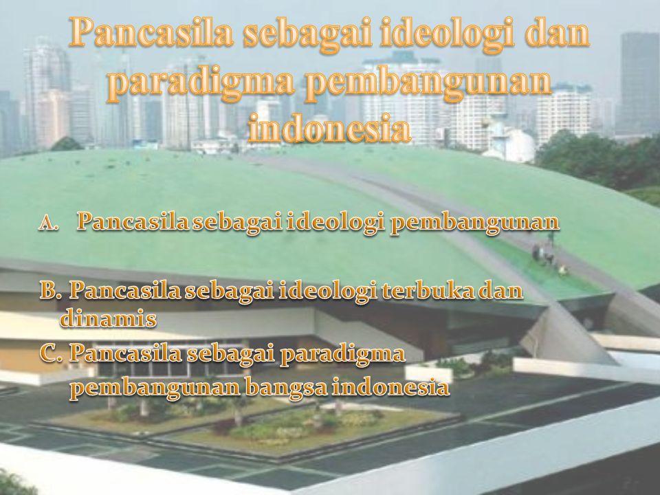 PANCASILA SEBAGAI IDEOLOGI DALAM BERBAGAI BIDANG By kelompok 3 HodriKhaerul Anam