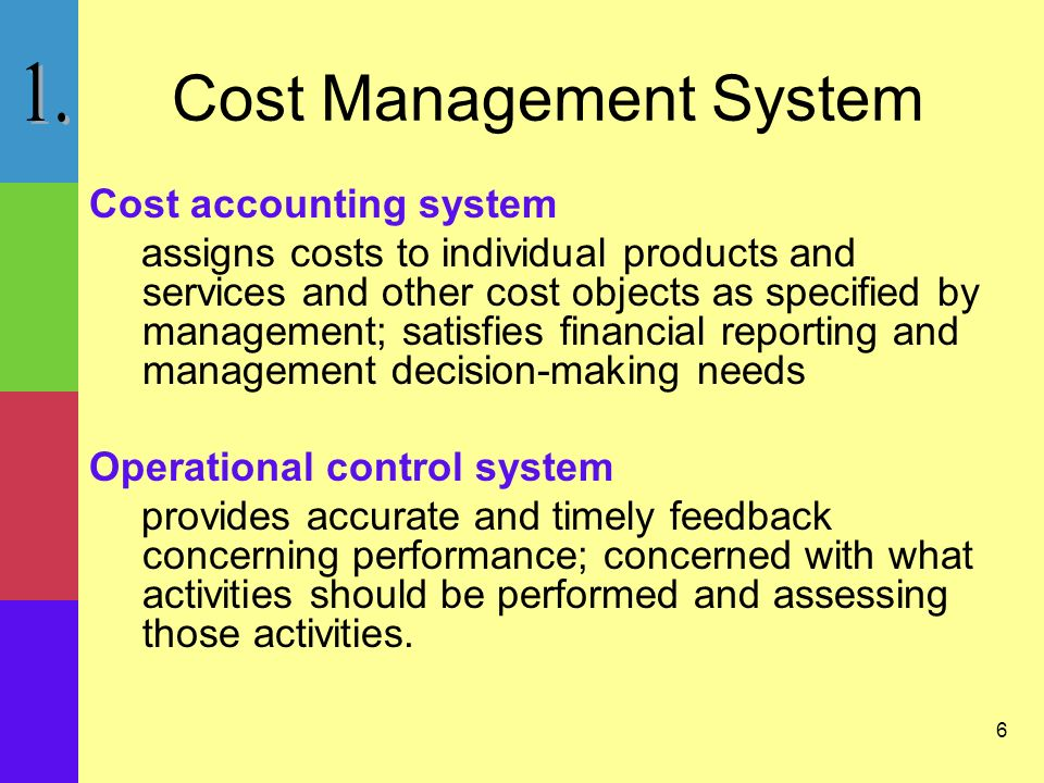 17 The Role of Cost and Management Accountant Responsible for generating financial information required by the firm for –Internal reporting –External reporting Accounting system information is used by management to –Plan –Control –Make decisions
