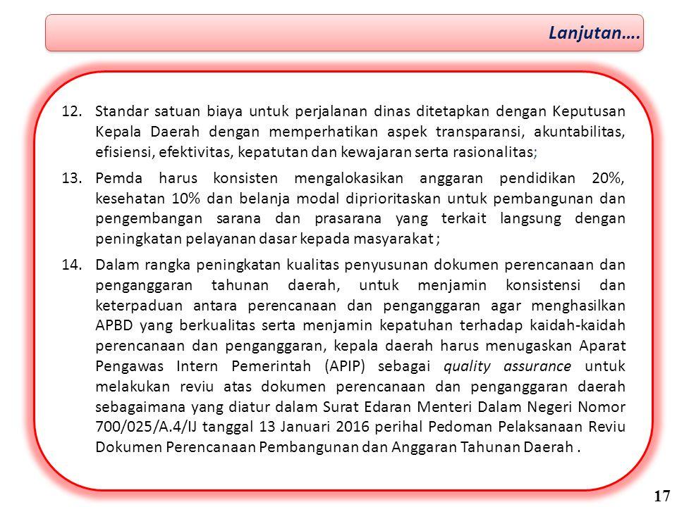 15.Dalam penyusunan perencanaan penganggaran dan pembahasan KUA dan PPAS antara Kepala Daerah dengan DPRD pada bulan Juni-Juli 2016 terkait dengan Belanja perlu prinsip kehati-hatian (prudential) bagi Kepala Daerah dan DPRD.