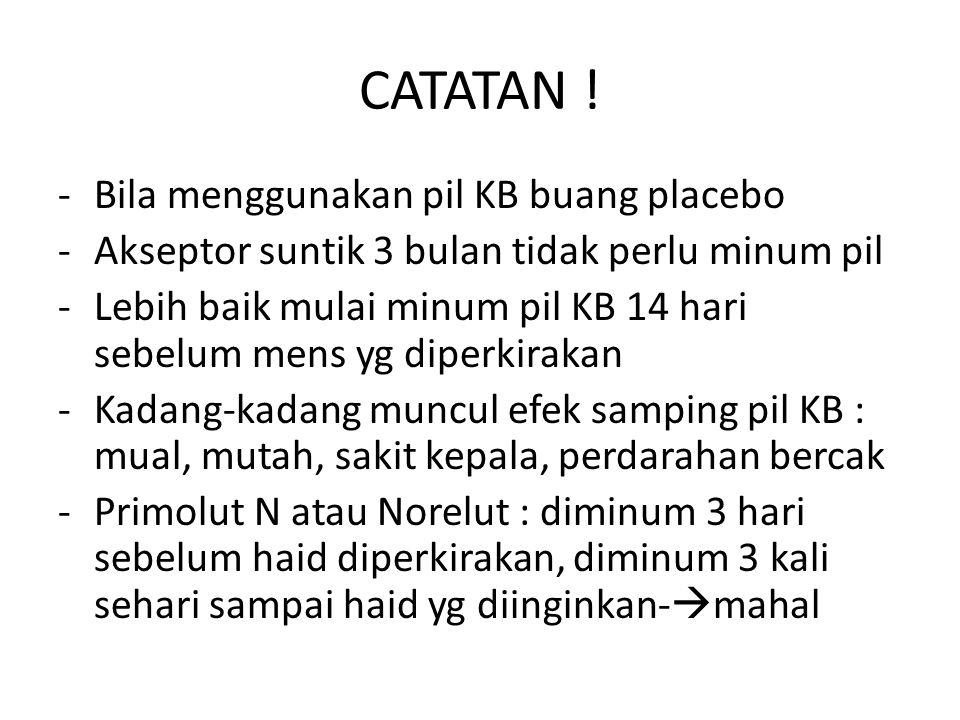 CATATAN .