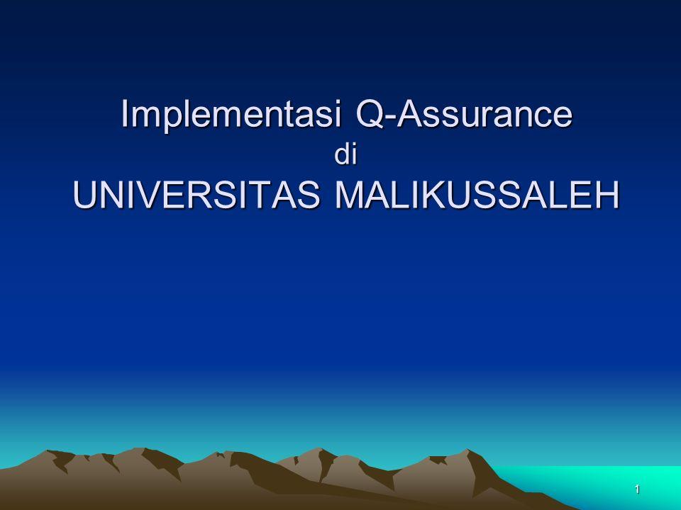1 Implementasi Q-Assurance di UNIVERSITAS MALIKUSSALEH