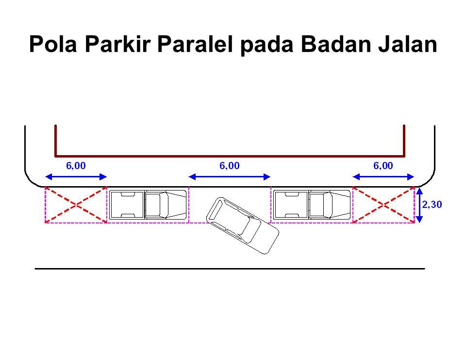 Pola Parkir Paralel pada Badan Jalan