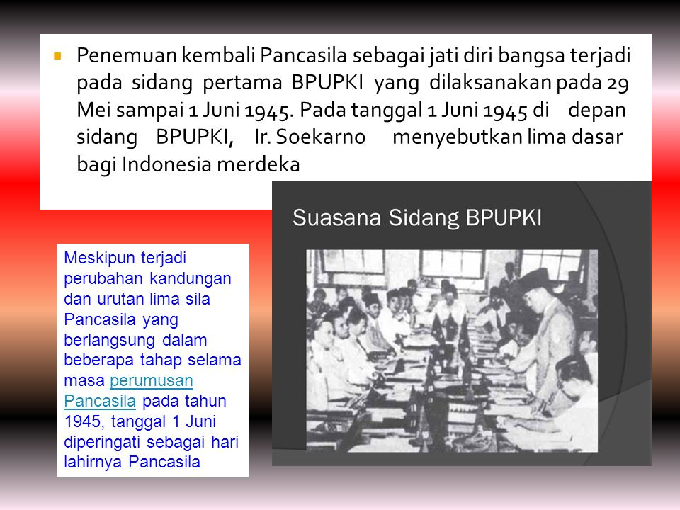  Sebagai salah satu tonggak sejarah yang merefleksikan dinamika kehidupan kebangsaan yang dijiwai oleh nilai- nilai Pancasila adalah termanifestasi dalam Sumpah Pemuda pada tanggal 28 Oktober 1928