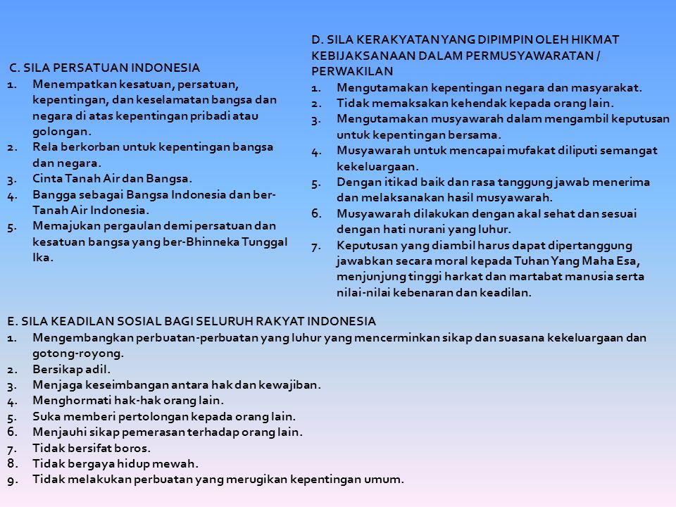 Butir-butir pengamalan Pancasila Ketetapan MPR no.
