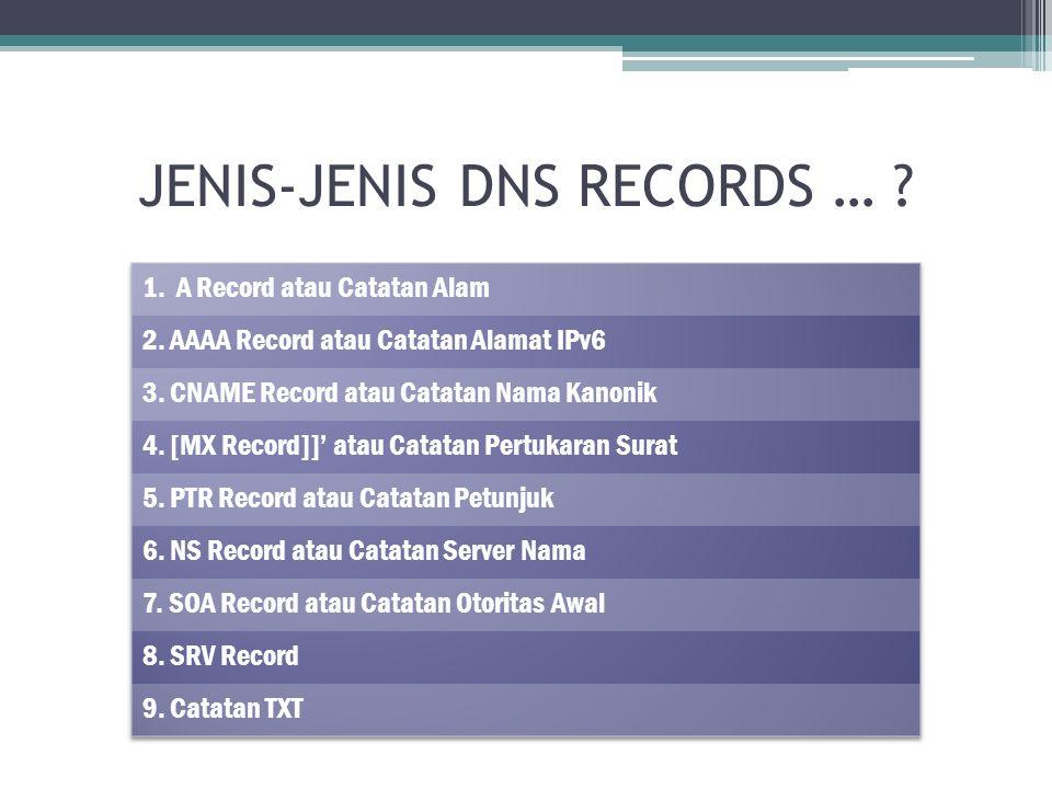 JENIS-JENIS DNS RECORDS …