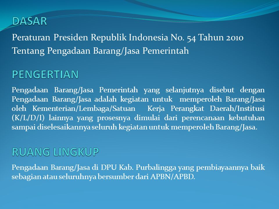 Peraturan Presiden Republik Indonesia No.