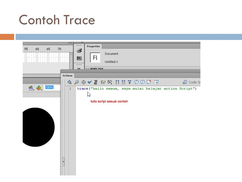 Contoh Trace