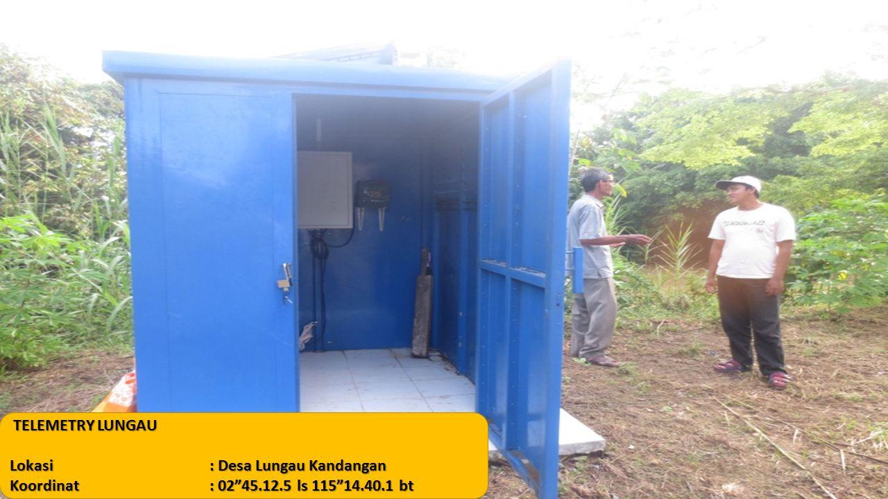 """TELEMETRY LUNGAU Lokasi: Desa Lungau Kandangan Koordinat: 02""""45.12.5 ls 115""""14.40.1 bt"""