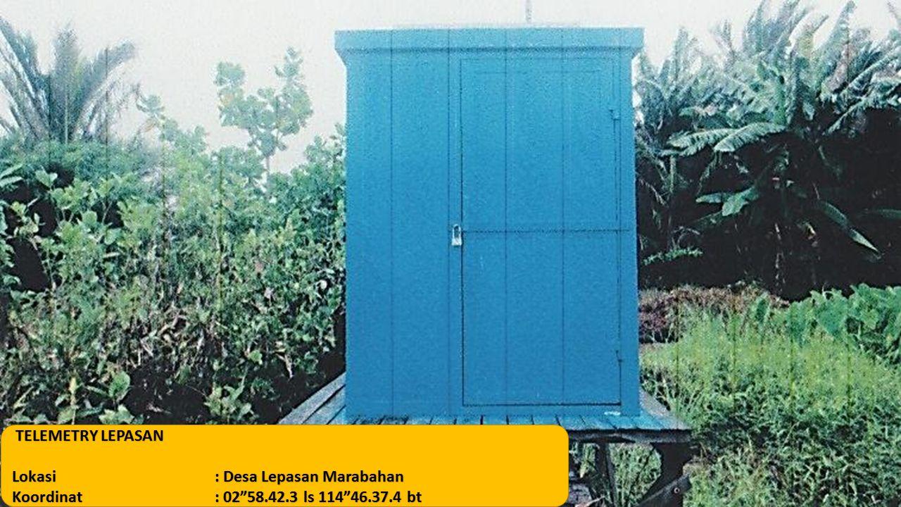 """TELEMETRY LEPASAN Lokasi: Desa Lepasan Marabahan Koordinat: 02""""58.42.3 ls 114""""46.37.4 bt"""