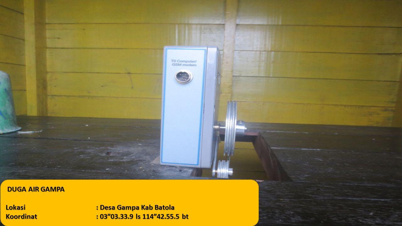 "DUGA AIR GAMPA DUGA AIR GAMPA Lokasi: Desa Gampa Kab Batola Koordinat: 03""03.33.9 ls 114""42.55.5 bt"
