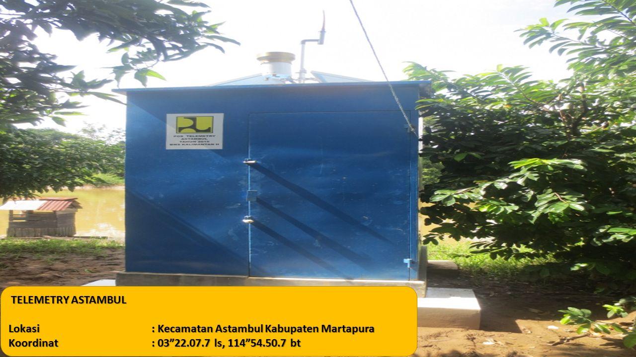 TELEMETRY ASTAMBUL TELEMETRY ASTAMBUL Lokasi: Kecamatan Astambul Kabupaten Martapura Koordinat: 03 22.07.7 ls, 114 54.50.7 bt