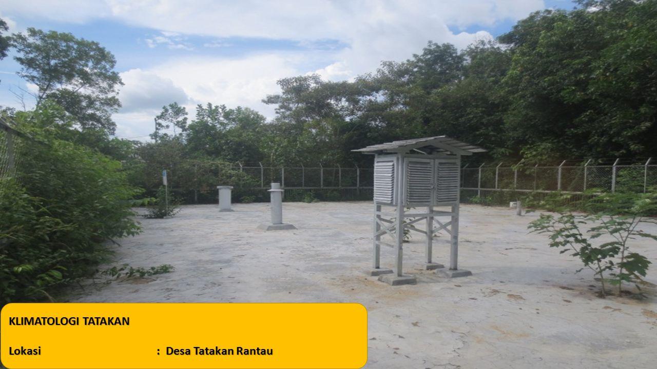KLIMATOLOGI TATAKAN Lokasi: Desa Tatakan Rantau
