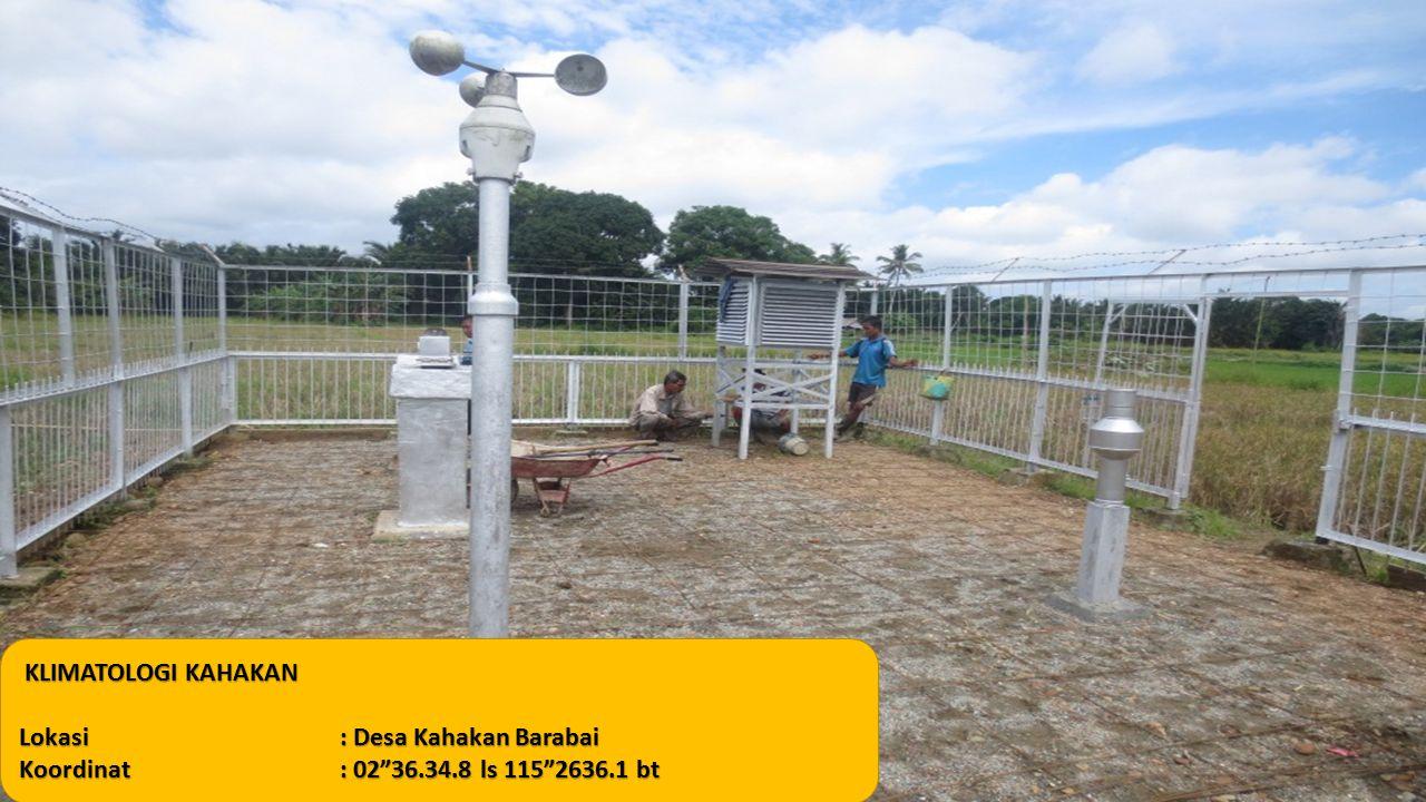 KLIMATOLOGI KAHAKAN Lokasi: Desa Kahakan Barabai Koordinat: 02 36.34.8 ls 115 2636.1 bt