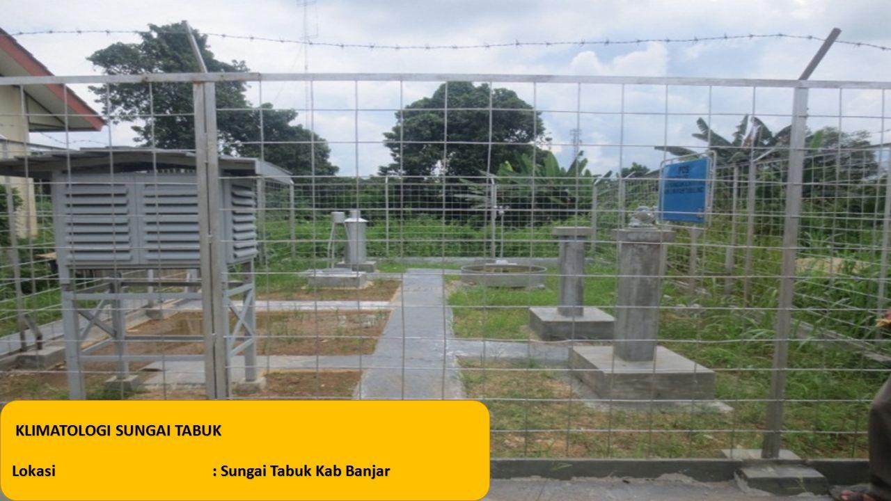 KLIMATOLOGI SUNGAI TABUK Lokasi: Sungai Tabuk Kab Banjar