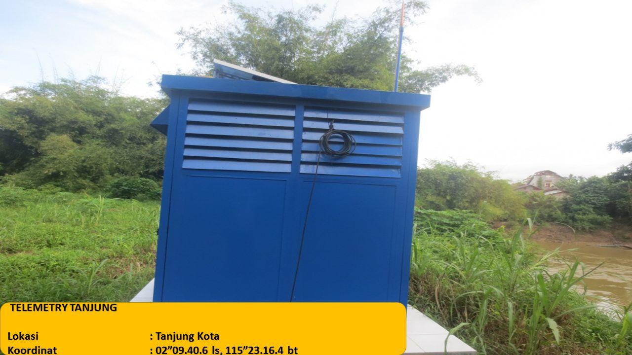 """TELEMETRY TANJUNG Lokasi: Tanjung Kota Koordinat: 02""""09.40.6 ls, 115""""23.16.4 bt"""